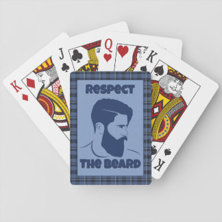 Beard Respect Playing Card