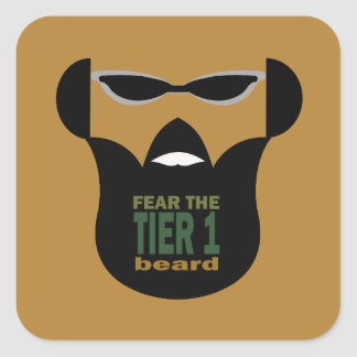 Beard War Square Sticker