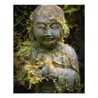 Bearded Buddha Statue Garden Nature Photography 11.5 Cm X 14 Cm Flyer