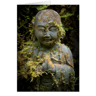 Bearded Buddha Statue Garden Nature Photography Card