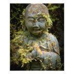 Bearded Buddha Statue Garden Nature Photography Full Color Flyer