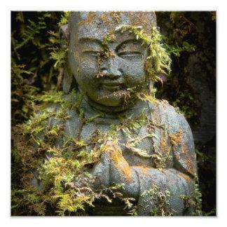 Bearded Buddha Statue Garden Nature Photography Photograph