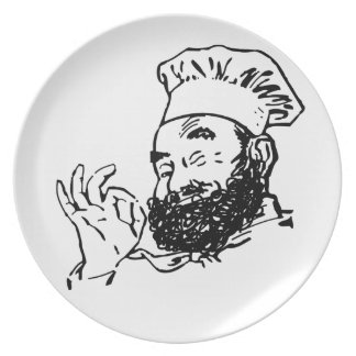 Bearded chef approved plate