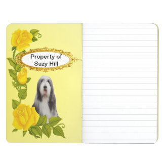 Bearded Collie and Yellow Roses Journals