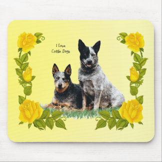 Bearded Collie and Yellow Roses Mouse Pad