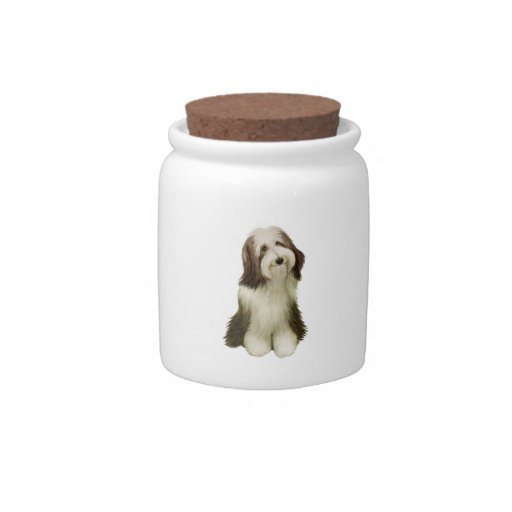 Bearded Collie (C) Candy Dish