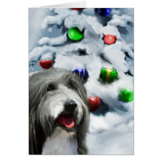Bearded Collie Christmas Gifts Greeting Card