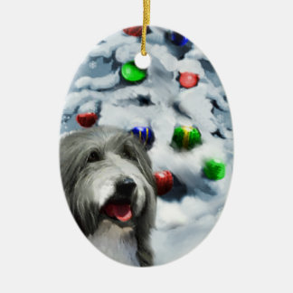 Bearded Collie Christmas Gifts Ornament