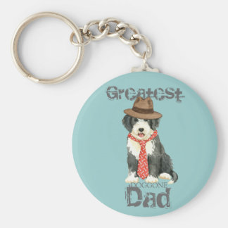 Bearded Collie Dad Key Ring