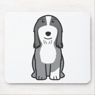 Bearded Collie Dog Cartoon Mousepad