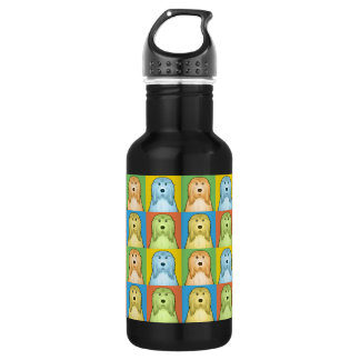 Bearded Collie Dog Cartoon Pop-Art 532 Ml Water Bottle