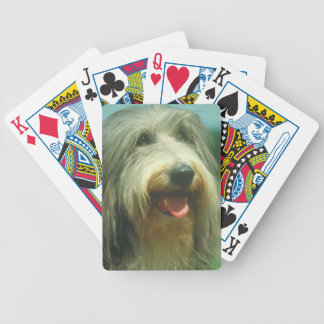 Bearded Collie Dog Playing Cards
