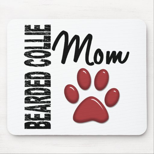 Bearded Collie Mom 2 Mouse Pads