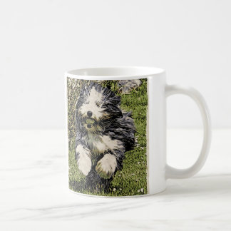 Bearded Collie on the Run Mug
