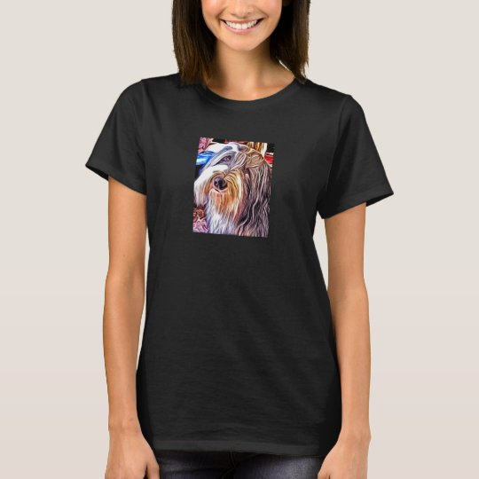 Bearded Collie Painting Women's T-Shirt