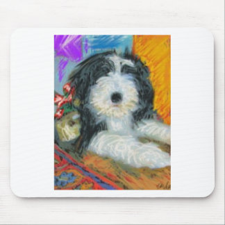 Bearded Collie Puppy Mouse Mat
