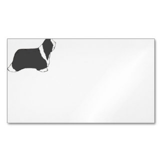 Bearded Collie silhouette.png Magnetic Business Cards