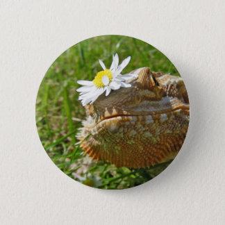 Bearded dragon 6 cm round badge