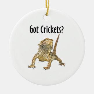 Bearded Dragon Got Crickets Christmas Ornament