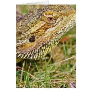 Bearded Dragon Head Greeting Card