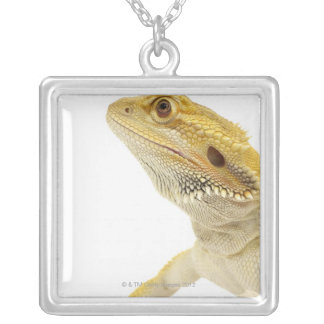 Bearded dragon (Pogona Vitticeps) Silver Plated Necklace