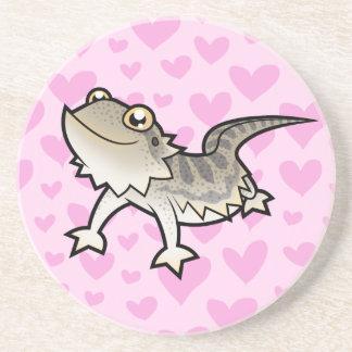 Bearded Dragon / Rankin Dragon Love Beverage Coasters