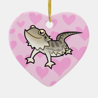 Bearded Dragon / Rankin Dragon Love Ceramic Heart Decoration