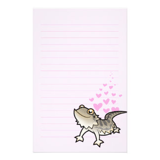 Bearded Dragon / Rankin Dragon Love Custom Stationery