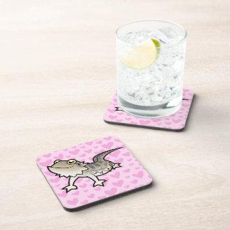 Bearded Dragon / Rankin Dragon Love Drink Coaster