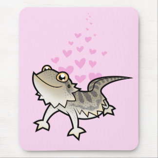 Bearded Dragon / Rankin Dragon Love Mouse Pad
