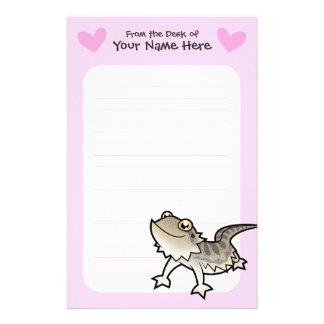 Bearded Dragon / Rankin Dragon Love Personalized Stationery