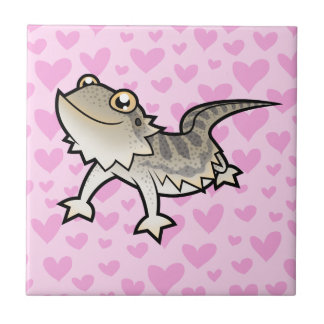 Bearded Dragon / Rankin Dragon Love Small Square Tile