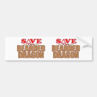 Bearded Dragon Save Bumper Sticker