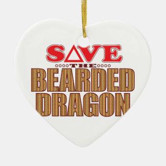 Bearded Dragon Save Christmas Ornament