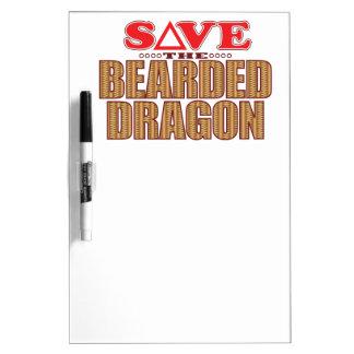 Bearded Dragon Save Dry Erase Board