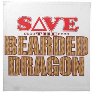 Bearded Dragon Save Napkin
