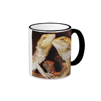Bearded Dragons Ringer Coffee Mug
