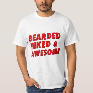 Bearded, Inked & Awesome T-Shirt