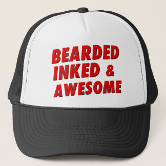 Bearded, Inked & Awesome Trucker Hat