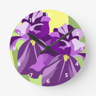 Bearded Iris Flower Clocks