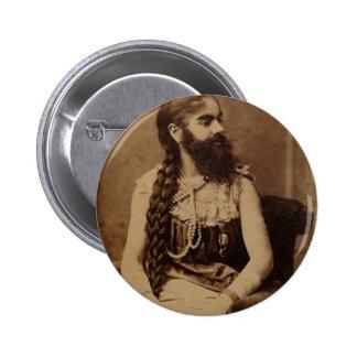 Bearded Lady 6 Cm Round Badge
