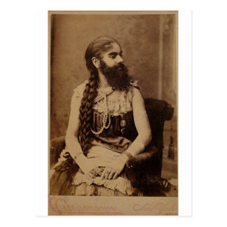 Bearded Lady Postcard
