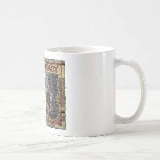 Bearded Lady Vintage Canival Banner Basic White Mug