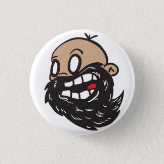 bearded mad 3 cm round badge
