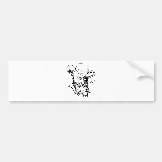 Bearded man bumper sticker