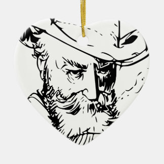 Bearded man christmas ornament