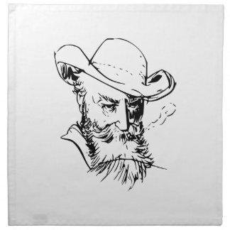 Bearded man napkin