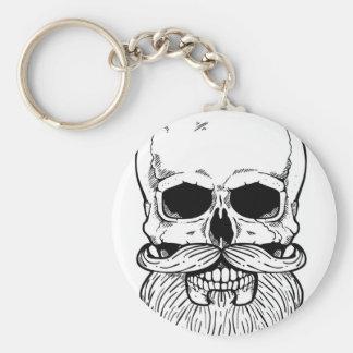 Bearded skull key ring