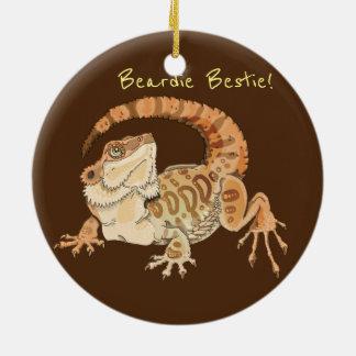 Beardie Bestie! Round Ceramic Decoration