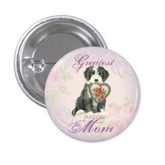 Beardie Heart Mom 3 Cm Round Badge